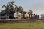After waiting for several CSX trains to clear, 17K heads west through town