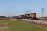 BNSF 5169 and two NS ES44AC's lead K010 eastward bound for the Atlantic coast