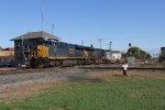 CSX 3082 & 3029 lead baretables west for Chicago as X139