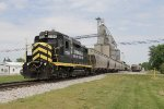 2230, one of the INER's pair of GP30's, works an NS grain train in Edon