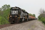 NS 6155 & 5042 head west with L7N after switching along the Fostoria District