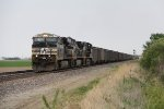 Following close behind another loaded coal train, NS 7541 heads west leading 866 with 150 loads