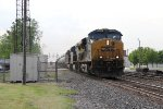 Crossing from Track 1 to 2, CSX 860 rolls east leading K048