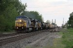 CSX 7740 brings Q382 east past the West Deshler crossovers