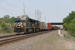 NS 7687 & 8079 roll east across the Water Level Route with 11K in tow