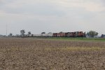 With a pair of CN SD70M-2's for power, Q324 rolls east on the Garrett Sub