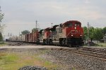 CN 8838 & 8933 lead Q324 from Track 1 to 2 and head for the Northwest Transfer