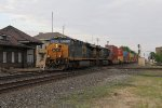 CSX 937 & 874 pound the diamond as they lead Q137 west