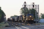 Weaving across the B&O from Track 1 to the Southeast Transfer, Q339 rolls through the East Deshler plant