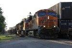 BNSF power leads dirty dirt train K253 west
