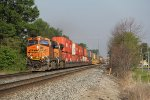 Q172, the train directly off BNSF for North Baltimore, makes its way east on the Willard Sub