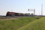 Three BNSF GE's roll west past NWO with G415-18