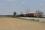 BNSF 5859 & 9361 lug Detroit Edison coal loads east as N820