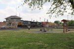 Q163 rolls west through Deshler past Crossroads Park