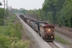 BC Rail 4621 leads the way as Q324 takes the higher level east