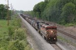 The unlikely Dash-8 pair of BCOL 4621 & CSX 7708 leads Q324 east