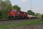 CP 9367 & 8928 make full speed west leading CP train 143