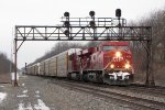 CP 8750 & 8707 roll east with CP's train 240