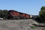 Three CP AC4400's roll west with empty ethanol train 641