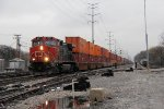 IC 2699 heads south on the IHB with CN's Q198 from Prince Rupert