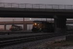UP 3554 works the yard with YPRCP as the rear two units of 642 sit in the yard with the train