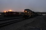 Potash train 296 pulls east as the new units for 642 back into the yard