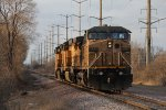 A light power set heads away northward bound for Pleasant Prairie