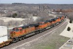 Four units led by BNSF 6884 charge east with the UPS traffic of Z-ATLWSP8