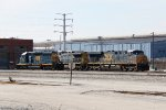CSX 8245 sits outside the shop with 5365 & 398