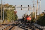 CN 2281 & BCOL 4603 sit tied down on Main 3 with A446