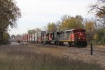 CN 2452 leads the 5764 & BCOL 4601 north on the J with Q199