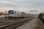 Number 5, the California Zephyr, rolls along at track speed heading west