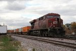 CP 8779 shoves back as it yards train 198 in the intermodal yard