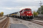 Following behind the UP Transfer on Main 3, G42 rolls into Bensenville with cars from the BRC