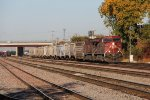 CP 9607 & 9770 move east at track speed with 288
