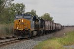 Still coming off the NS connection, Q388 comes east with CSX 3066 in the lead
