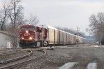 CP 8892 rolls west toward CP482 leading CP train 147