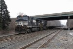 NS 8941 & 8961 roll west under I-94 leading B09