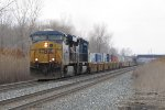 CSX 5290 & 4703 head east with the international containers of Q130