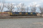 Using CSX power, a CN crew comes out into the NS interchange yard to grab some cars
