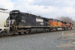NS 8787 follows BNSF 4679 & 6750