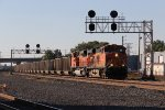 Running east on trackage right, BNSF 6146 leads N903 east through CP507