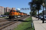 BNSF 7900 leads the way as Z-CHCSTP roars west through La Grange