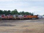 ATSF 941, ATSF 944, and BNSF 878 sitting at the yard