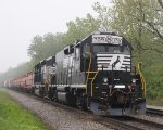 NS 709 on a foggy morning at MP368 along Old Maumee Road