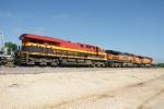 KCS 4782, BNSF 1066 & BNSF 5155
