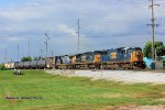CSX 8723 leads CSX train Q201 south at Memphis Jct. Yard