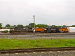 NS 9823 and 5287; BNSF 6282 and 5878