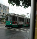 T Trolley at Back of the Hill Station. This car is an older series one.