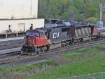 CN 5664 & CN 5350 APPROACHING SIDING SWITCH